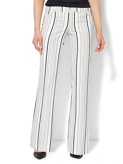 7th Avenue Bootcut Pant - Striped  - New York & Company