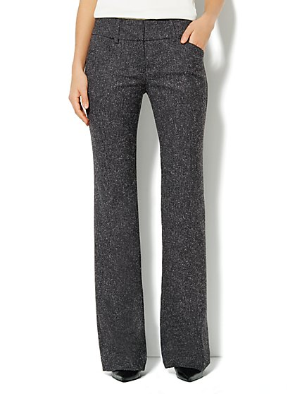 7th Avenue Bootcut Pant - Tweed - Petite