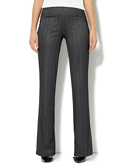7th Avenue Bootcut Pull-On Pant - Herringbone - Petite - New York & Company