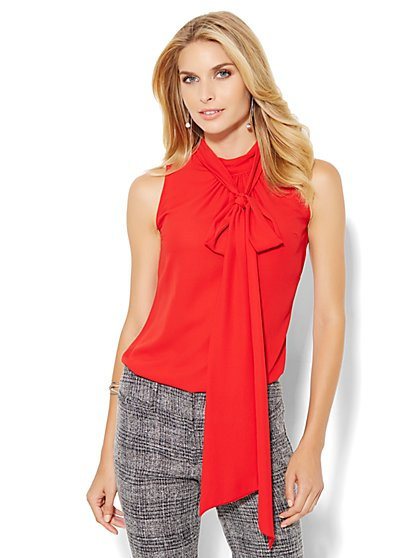 7th Avenue Bow Blouse - Sleeveless - New York & Company