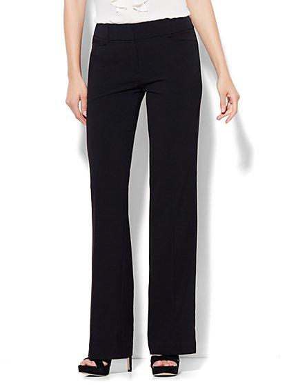 7th Avenue City Double Stretch Bootcut Pant - Black - Petite - New York & Company