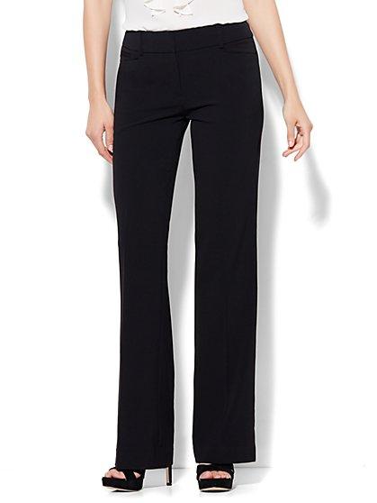 7th Avenue City Double Stretch Bootcut Pant - Black - Petite - New York & Company