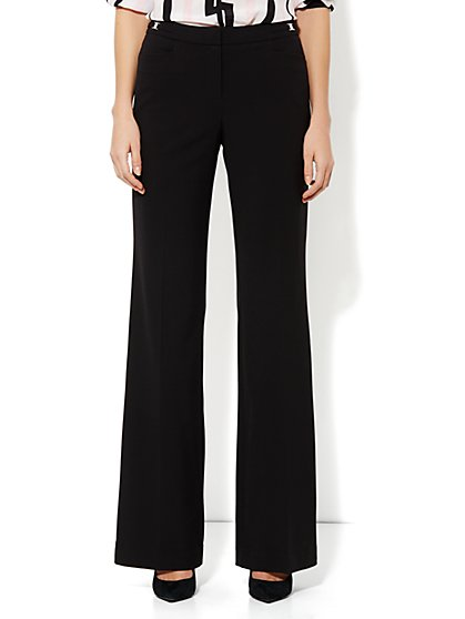 7th Avenue City Double Stretch Wide Leg Pant - Petite
