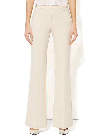 7th Avenue City Double Stretch Wide Leg Pant - Tall  - New York & Company