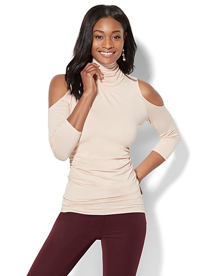 7th Avenue - Cold-Shoulder Turtleneck - New York & Company
