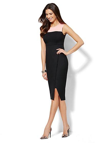 7th Avenue Colorblock Sheath Dress - Slimming Control Panel - New York & Company