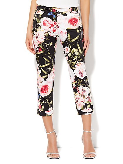 7th Avenue Cuffed Crop - Floral