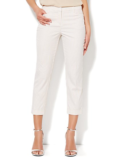 7th Avenue Cuffed Crop – Stripe