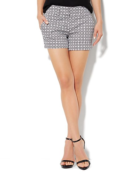7th Avenue Cuffed Short - Daisy Print - New York & Company