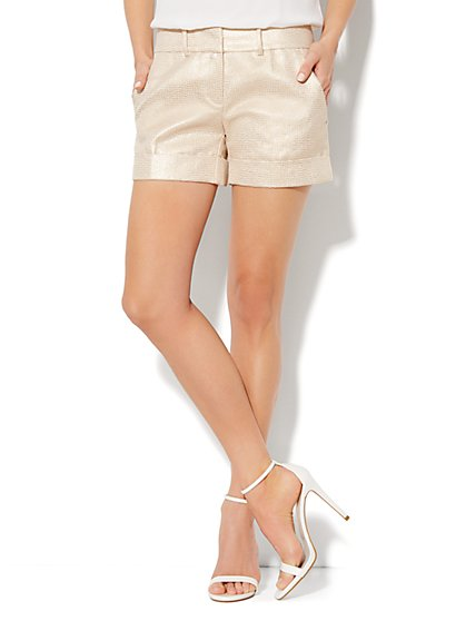 7th Avenue Cuffed Short - Jacquard