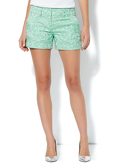7th Avenue Cuffed Short - Shimmer Floral Print