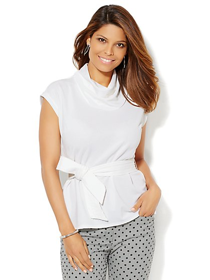 7th Avenue Design Studio - Belted Top  - New York & Company