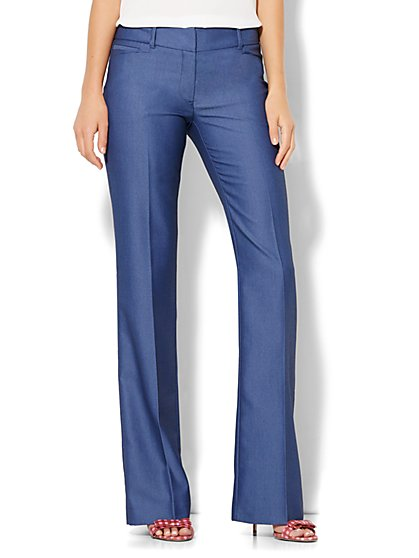 7th Avenue Design Studio - Bootcut  Pant - Signature - Universal Fit - Blue - New York & Company