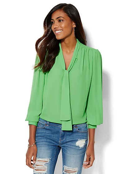 7th Avenue Design Studio - Bow Blouse - New York & Company