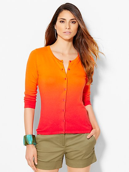 7th Avenue Design Studio Chelsea Cardigan - Ombré  - New York & Company