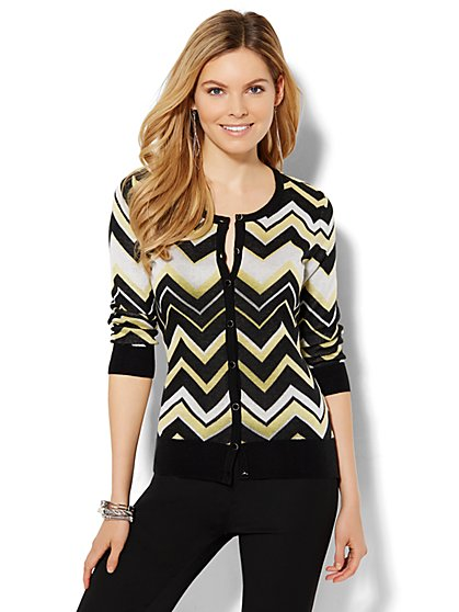 7th Avenue Design Studio - Chelsea Cardigan - Print  - New York & Company