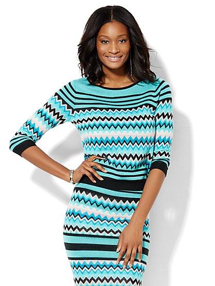 7th Avenue Design Studio - Chevron Sweater  - New York & Company