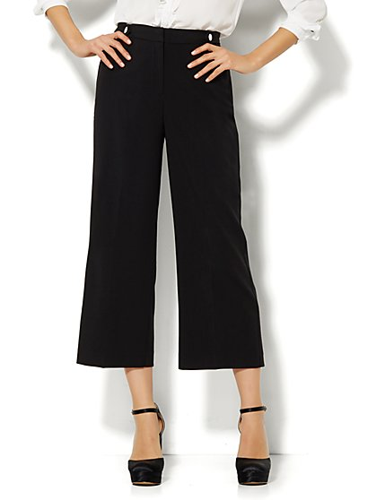 7th Avenue Design Studio Culotte - Side-Tab Detail - Black  - New York & Company
