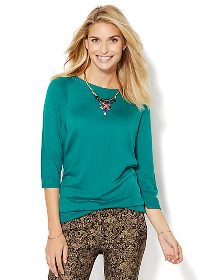 7th Avenue Design Studio - Dolman Tunic Sweater  - New York & Company