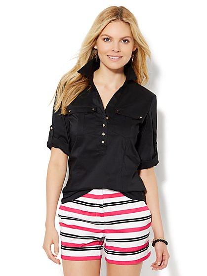 7th Avenue Design Studio - Double-Pocket Popover Shirt  - New York & Company