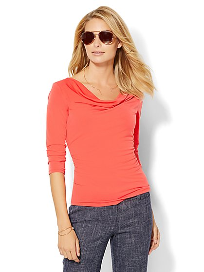 7th Avenue Design Studio - Draped Top  - New York & Company
