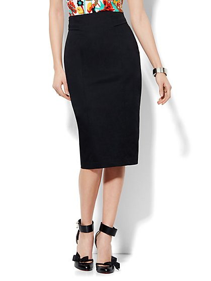 7th Avenue Design Studio High Waisted Pencil Skirt - Signature Fit - Solid - New York & Company