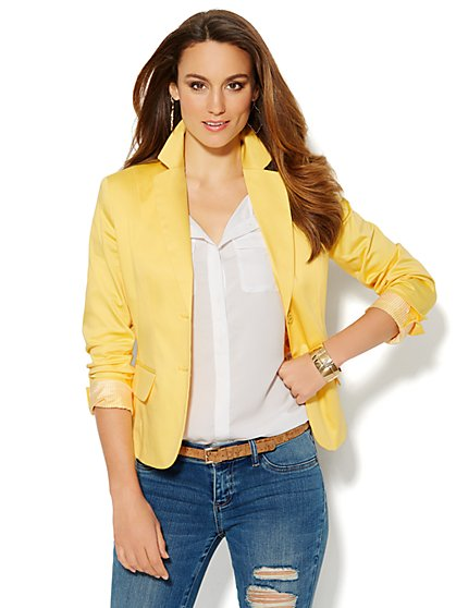 7th Avenue Design Studio Jacket - Cotton Sateen - New York & Company