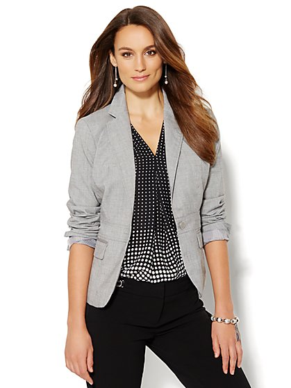7th Avenue Design Studio Jacket - Grey Whispers - Petite  - New York & Company