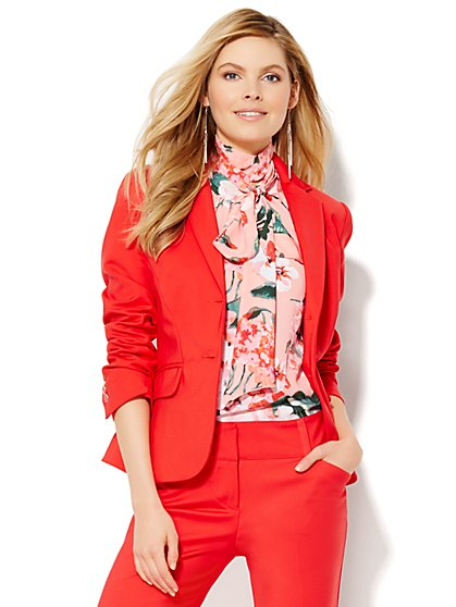 7th Avenue Design Studio Jacket - Modern Fit - Fireworks Red  - New York & Company
