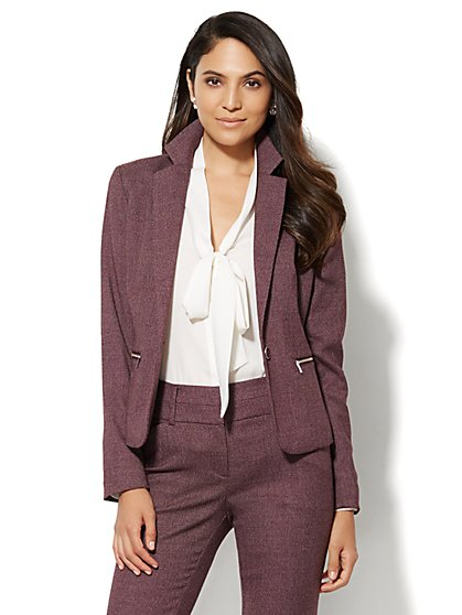 7th Avenue Design Studio Jacket - Modern Fit - True Burgundy - New York & Company