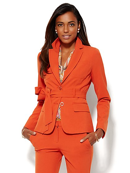 7th Avenue Design Studio Jacket - Runway Fit - Tie-Front - Double Stretch - New York & Company