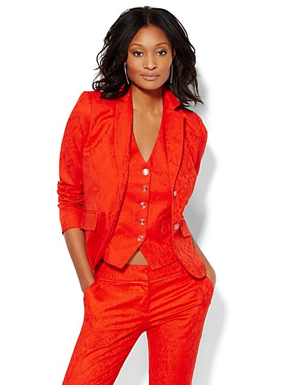 7th Avenue Design Studio Jacket - Signature Fit - Jacquard - Tall - New York & Company