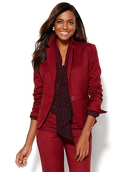 7th Avenue Design Studio Jacket - Signature Fit - Tweed - Petite - New York & Company