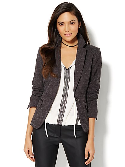 7th Avenue Design Studio Jacket - Signature Fit - Two Button - Black - Petite - New York & Company