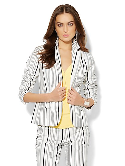 7th Avenue Design Studio Jacket - Striped Jacket - New York & Company