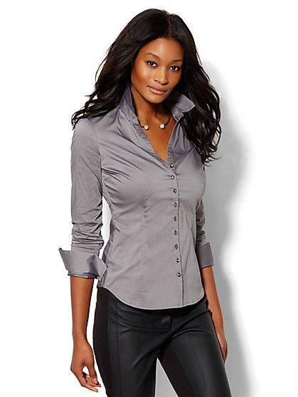 7th Avenue Design Studio - Jewel-Button Madison Shirt - New York & Company