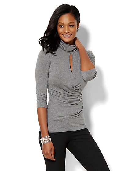 7th Avenue Design Studio - Keyhole Turtleneck  - New York & Company