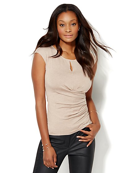 7th Avenue Design Studio - Keyhole Wrap Top  - New York & Company