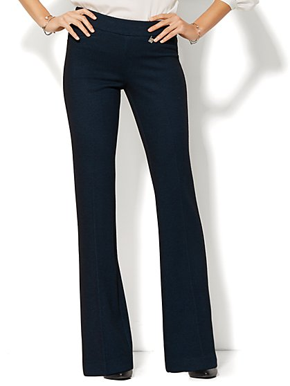 7th Avenue Design Studio Knit Pant - Signature Fit - Bootcut - Blue Gem  - New York & Company