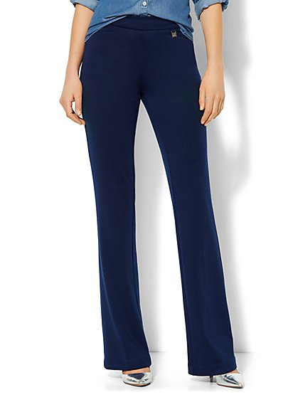 7th Avenue Design Studio Knit Pant - Signature - Universal Fit - Ponte - Tall - New York & Company