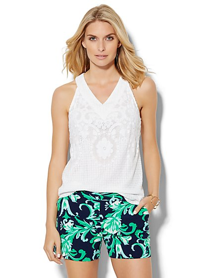7th Avenue Design Studio - Lace Halter Blouse  - New York & Company