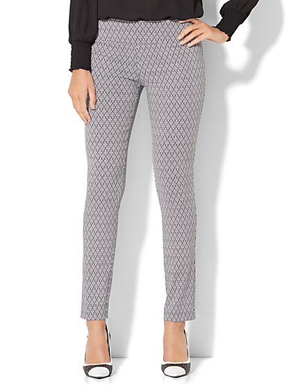 7th Avenue Design Studio - Legging Fit - Slim-Leg Pant - Print   - New York & Company