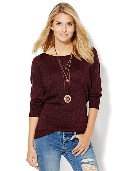 7th Avenue Design Studio - Lurex Dolman Tunic  - New York & Company