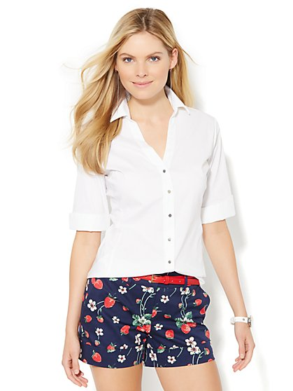 7th Avenue Design Studio - Madison Shirt - French Cuff - Petite - New York & Company