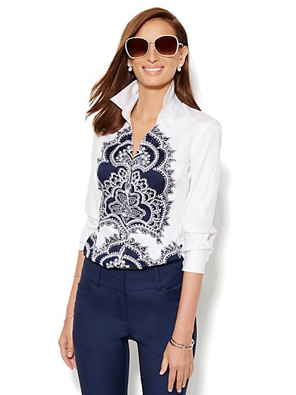 7th Avenue Design Studio - Madison Shirt - Paisley Print - New York & Company
