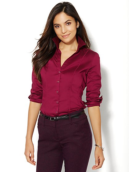 7th Avenue Design Studio - Madison Shirt - Petite  - New York & Company
