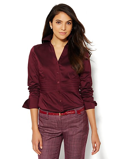 7th Avenue Design Studio - Madison Shirt - Pintuck Shirt - New York & Company