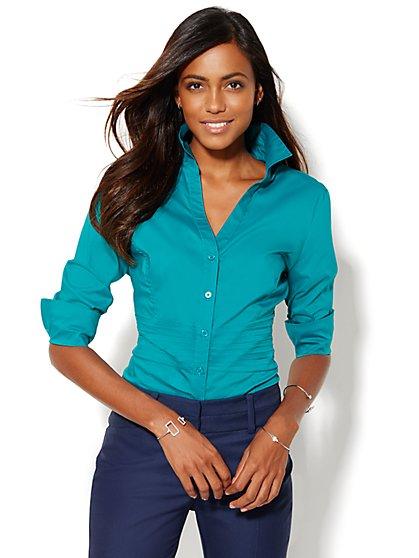 7th Avenue Design Studio - Madison Shirt - Pintuck Shirt - New York & Company