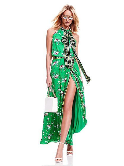 7th Avenue Design Studio - Maxi Wrap Skirt - Floral - Petite   - New York & Company