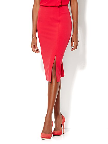 7th Avenue Design Studio - Modern Fit - Pencil Skirt - Double Stretch - New York & Company